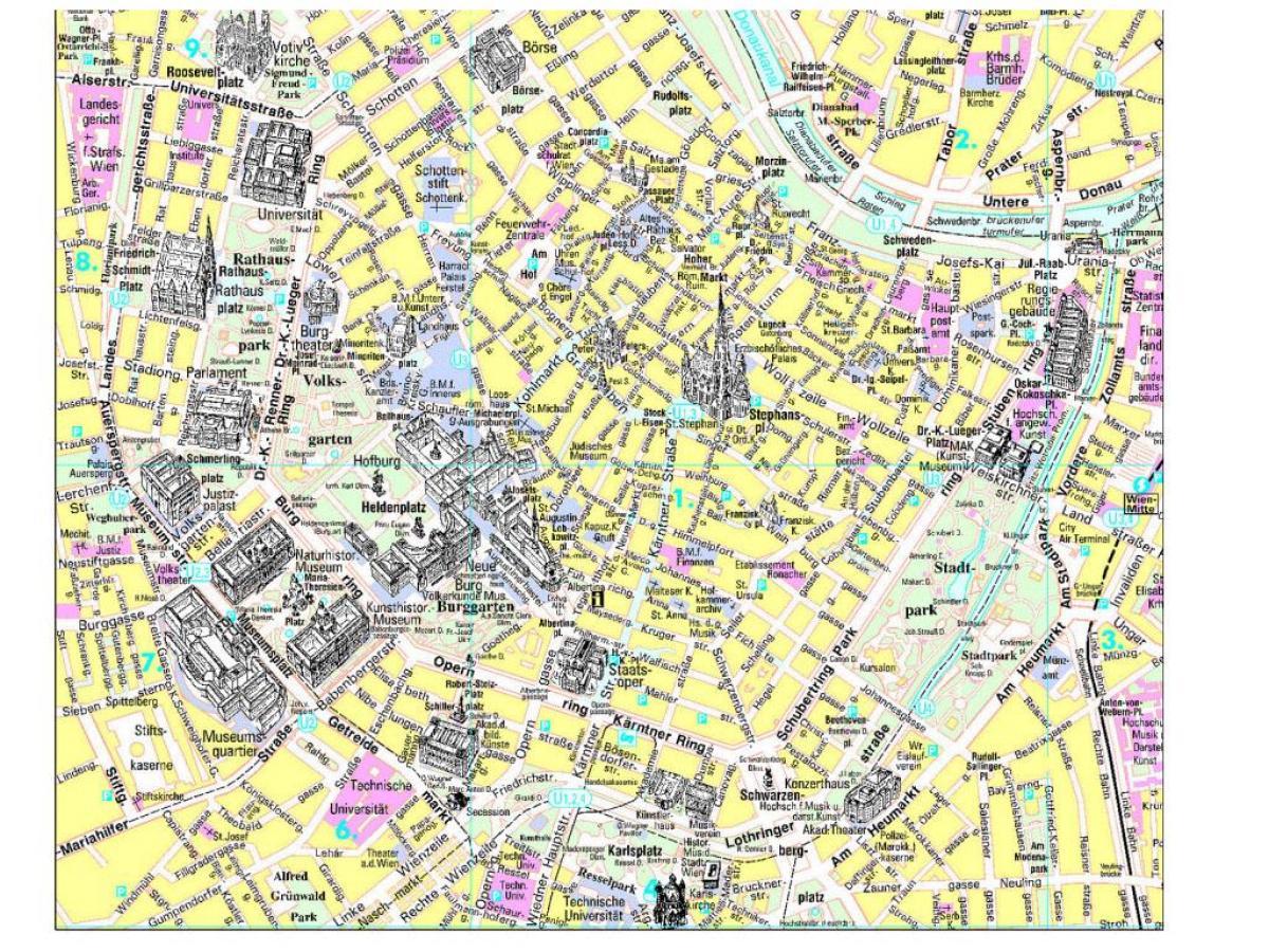 Peta Wisata Vienna Wisata Vienna Peta Panduan Austria